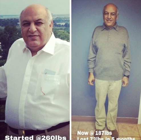 *Lost 73 lbs in 5 months